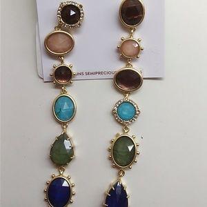 Kate Spade New Linear Multi-Stone Earrings